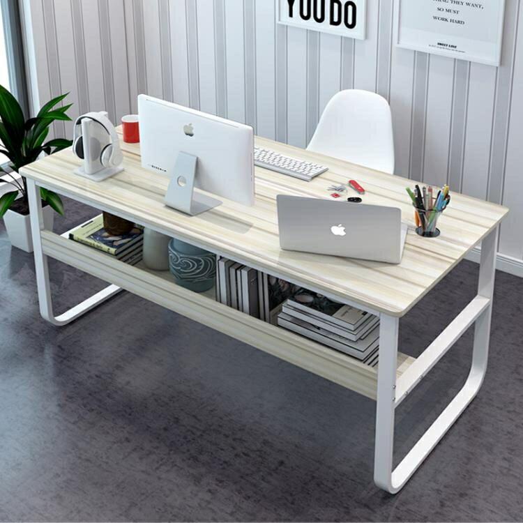 電腦台式桌家用簡約經濟型辦公桌雙人臥室學生學習桌簡易寫字書桌yh