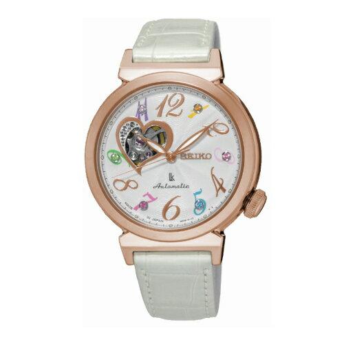 SEIKO LUKIA 品味機械女腕錶  鱷魚皮錶帶  4R38~01D0S SSA840