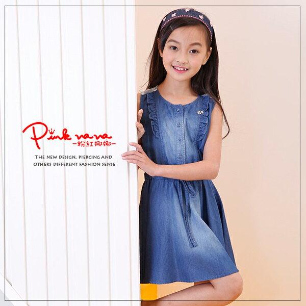 Pink Nana:PINKNANA童裝-時尚牛仔背心洋裝33155