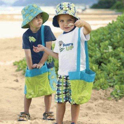 =優生活=兒童寶貝收藏袋 寶寶沙灘貝殼收納袋 旅行便攜整理袋 度假玩具網袋 沙灘網袋 沙灘挖砂