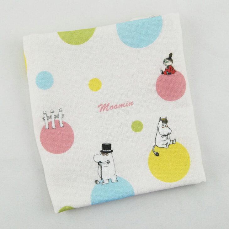 Moomin嚕嚕米  ~ 柔棉 厚棉 小方巾:~ 彩虹泡泡 ~