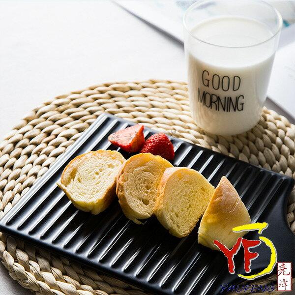 堯峰陶瓷:★餐桌系列★歐式單孔正方烤盤(白黑紅)早午餐下午茶親子野餐適用