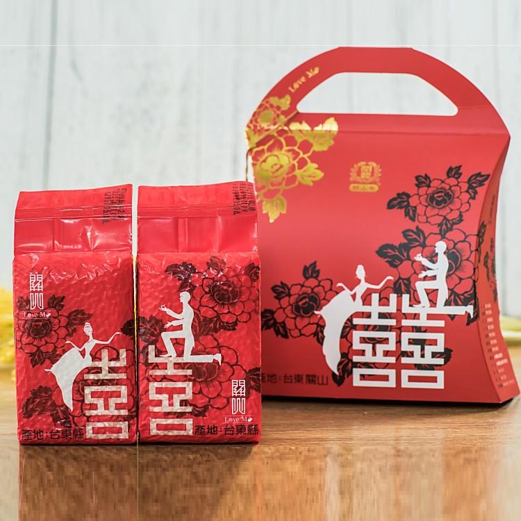 【?和燊】關山Love Me喜米禮盒組(300克*2包) 台東產地 關山米 花東好米 伴手禮 台東關山鎮農會 真空包裝