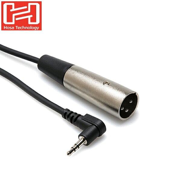 耀您館★美國Hosa音源線L型3.5mmTRS立體聲麥克風端子轉成XLR3M麥克風音訊線XVM-105M(長1.5米)XLR音源線150cm轉接線.亦可連接混音器