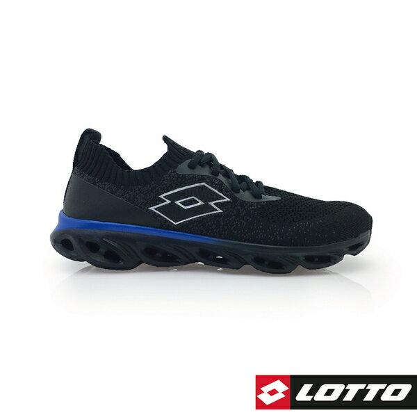 LOTTO樂得義大利第一品牌 男款X Speed 編織風動跑鞋 235g [0510] 黑【巷子屋】