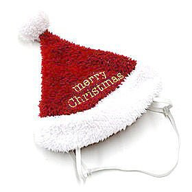 Merry christmas金色繡字聖誕帽 Pet'sTalk