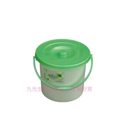 【九元生活百貨】聯府 C-070 花語附蓋桶-中 水桶 提桶 C070