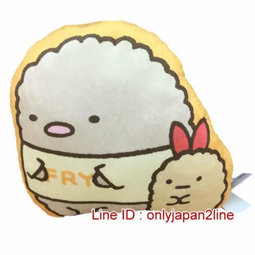 【真愛日本】16122100005角落生物造型抱枕-炸豬排   SAN-X 角落公仔  暖手枕 抱枕 靠枕 娃娃