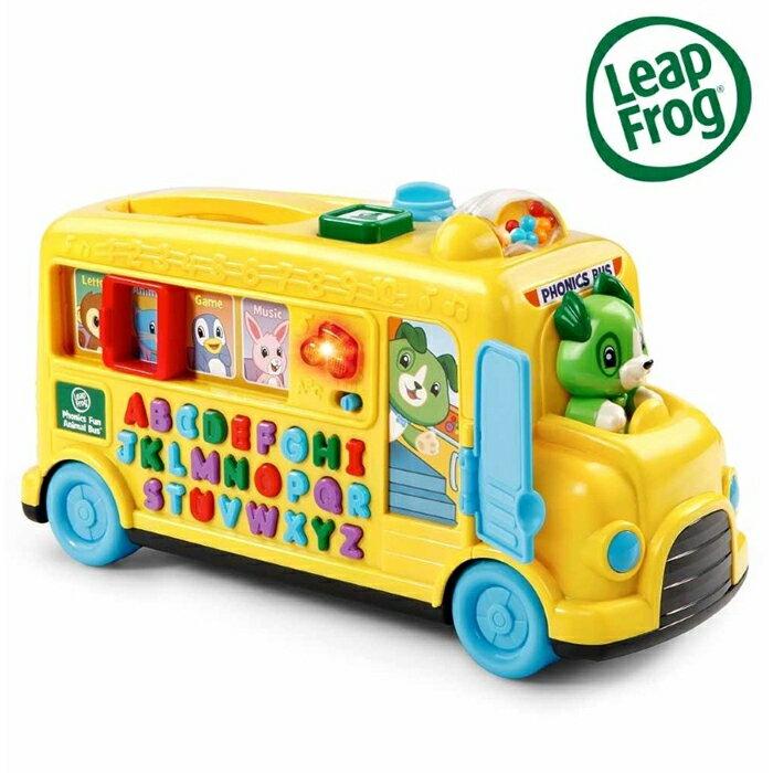美國 跳跳蛙 LeapFrog 動物字母發音小巴士 全英幼兒學習玩具 1300 好娃娃 - 限時優惠好康折扣