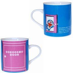 【真愛日本】17080900011 日本製馬克杯-DN任意門藍 Doraemon 哆啦A夢 小叮噹  杯子 茶杯