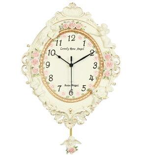 田園時尚可愛掛鐘2超靜音家居裝飾品客廳臥室壁鐘