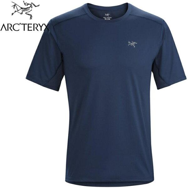 Arcteryx始祖鳥登山排汗衣短袖圓領排汗衣12084AcceleroComp男款夜景藍