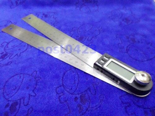 【小工人】公制英制數位顯示角度尺 不鏽鋼電子角度尺 量角器木工角尺量角儀萬能角度尺