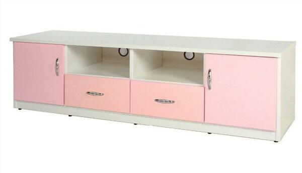 【石川家居】844-04(6尺粉紅白色)電視櫃(CT-202)#訂製預購款式#環保塑鋼P無毒防霉易清潔