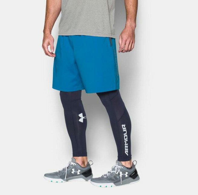 《UA出清6折》Shoestw【1271943-787】UNDER ARMOUR UA服飾 短褲 運動褲 訓練褲 8吋 水藍 男生 2