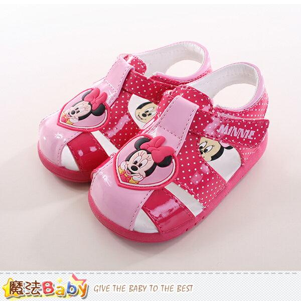 寶寶鞋迪士尼米妮正版寶寶外出鞋 魔法Baby~sh9733