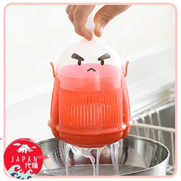 日本原裝洗米武士淘米盆瀝水盆廚房淘米洗米神器