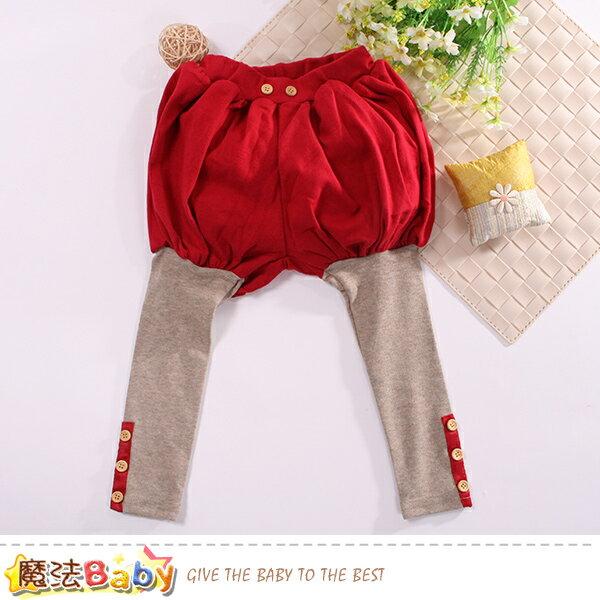 女童裝 假兩件燈籠褲 魔法baby~k60614