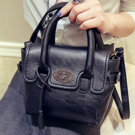 手提包 歐美流行磨砂百搭鎖頭包側背包【O3037】☆雙兒網☆ 3