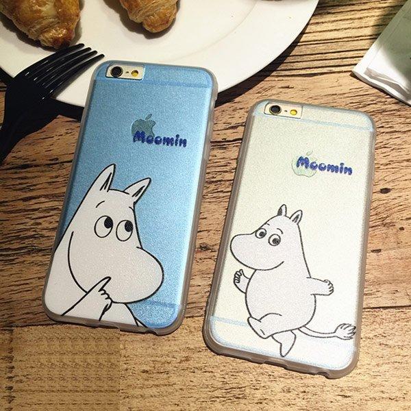 iPhone 6 I6 6S PLUS I5 5S 魯魯米 姆明一族 亞美 小不點 全包覆 軟殼 手機殼