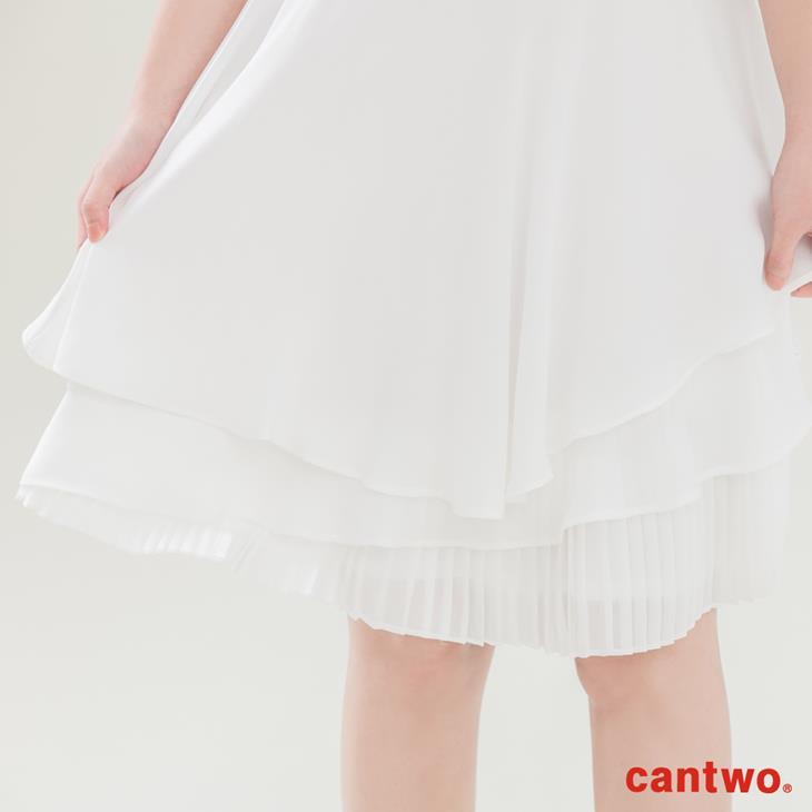 cantwo壓摺荷葉內襯洋裝(共二色) 5