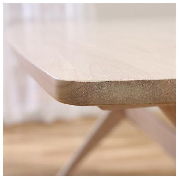 ◎(OUTLET)實木餐桌 RELAX 160 WW 橡膠木 福利品 NITORI宜得利家居 6