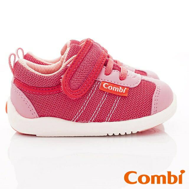 日本Combi童鞋 時尚紐約幼兒機能休閒鞋-魔力紅(加贈鞋墊)寶寶段 4