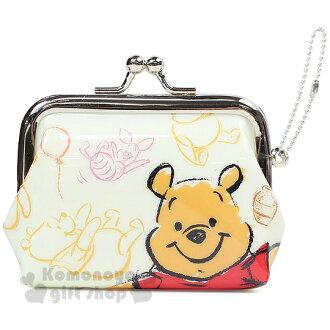 〔小禮堂〕迪士尼 小熊維尼 防水口金零錢包《S.黃.小豬.氣球》可愛又實用