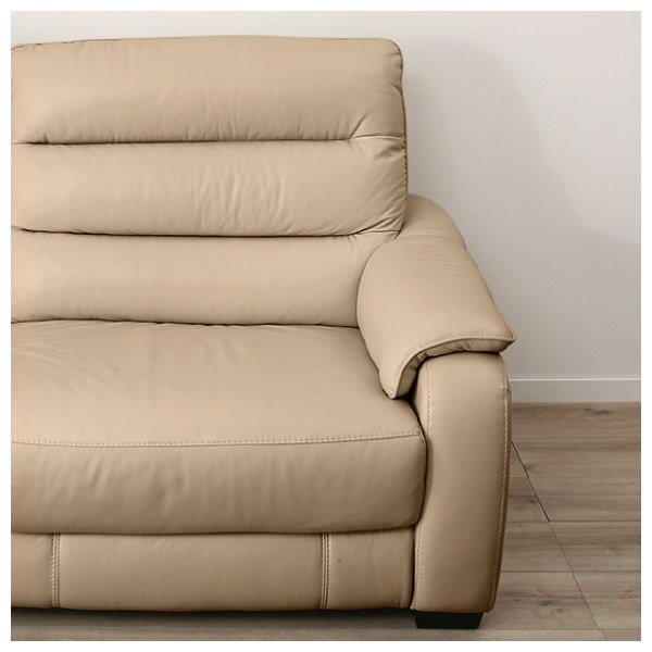 ◎(OUTLET)半皮3人用電動可躺式沙發 CRONA NB BE 福利品 NITORI宜得利家居 2