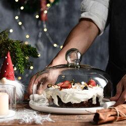 |現貨+預購|歐式 無鉛玻璃蛋糕盤組 |附玻璃罩|藝人 嚴立婷選用款|詹姆士年菜直播專用款|