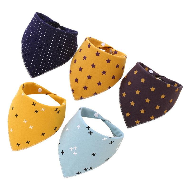 20條裝口水巾嬰兒三角巾純棉寶寶口水圍兜【免運】