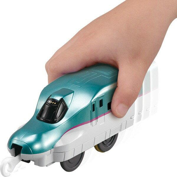 【Fun心玩】TP89517 麗嬰 PLARAIL 多美 鐵道王國 有聲推推車 E5 新幹線(不含軌道) 火車