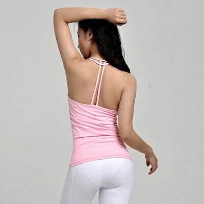 瑜珈服無袖背心-性感美背彈力純色女運動服3色73rh8【獨家進口】【米蘭精品】