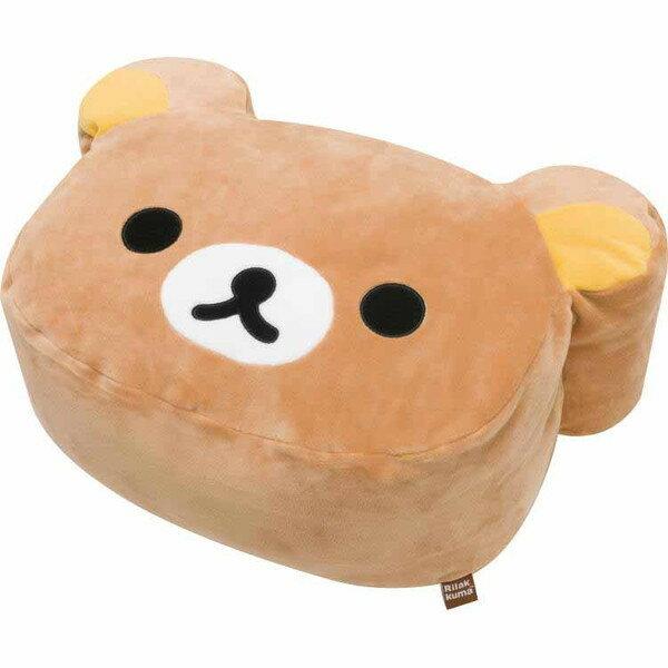 【真愛日本】16082000047綿柔頭型抱枕40cm-懶熊  拉拉熊 Rilakkuma 娃娃 抱枕 靠枕
