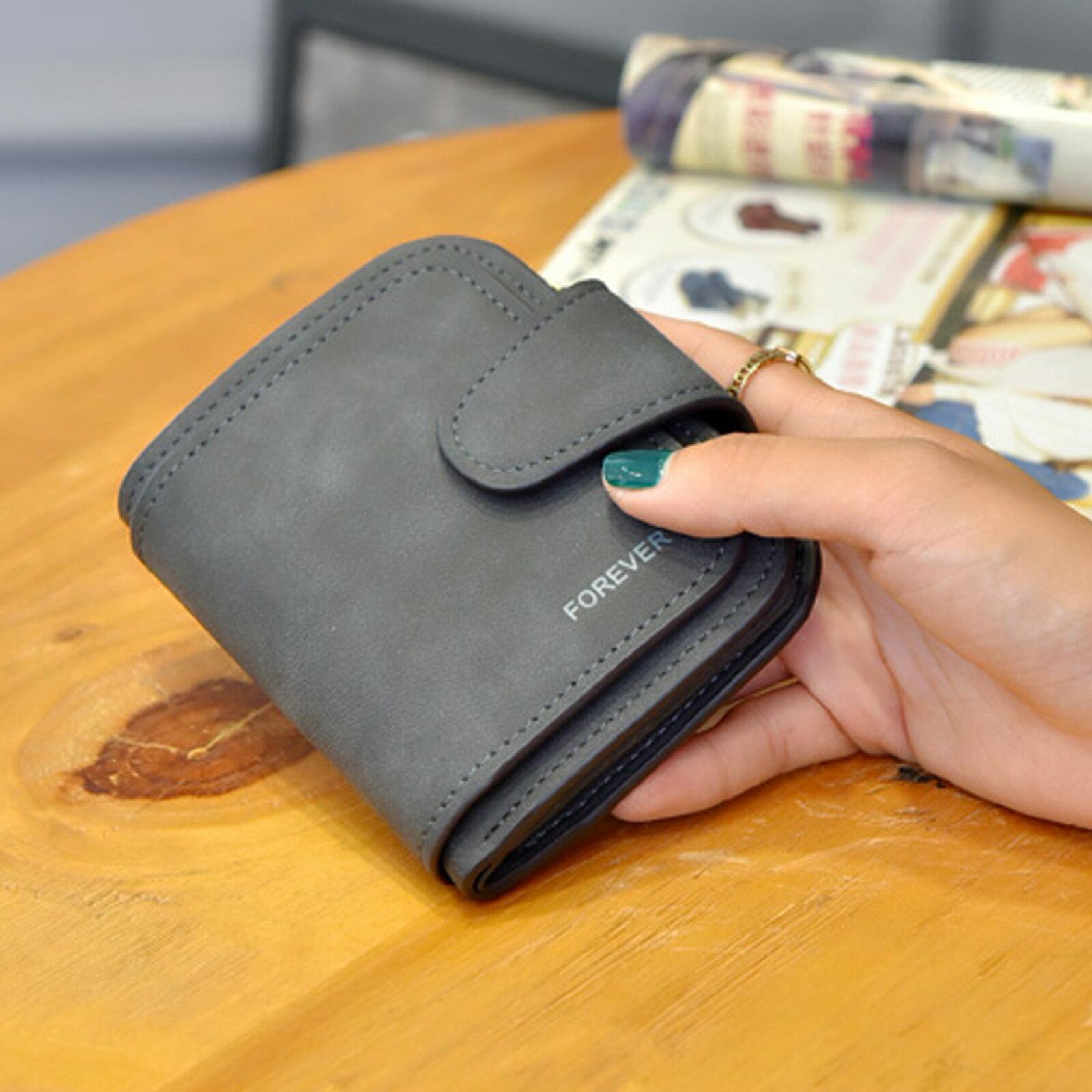 皮夾 錢包 拉鏈扣式磨砂多層短夾【O3215】☆雙兒網☆