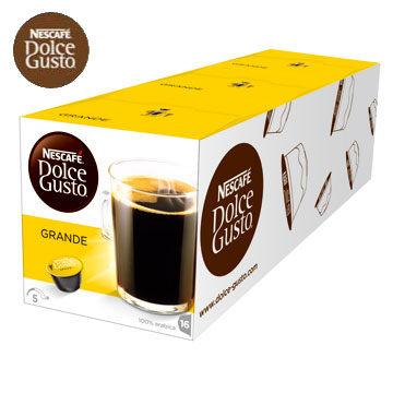 雀巢美式醇郁濃滑咖啡膠囊(GrandeCrema)(3盒組,共48顆)加贈黑人專業護齦抗敏感牙膏120g