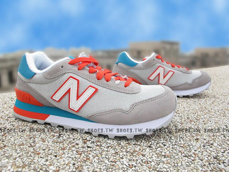 《下殺7折》Shoestw【WL515AHB】NEW BALANCE NB515 復古慢跑鞋 灰藍橘 女生尺寸