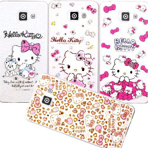 ~Hello Kitty~Samsung Galaxy A7^(2016^) 彩鑽透明保護
