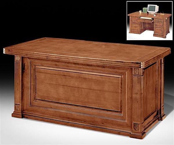702-04 樟木全實木5尺辦公桌(附8mm強化玻璃)~另有6尺辦公桌/書桌/工作桌/事務桌