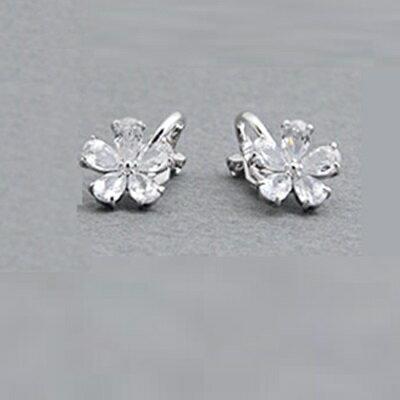 925純銀耳環鑲鑽耳飾~奢華名媛閃閃動人情人節生日 女飾品73hz55~ ~~米蘭 ~