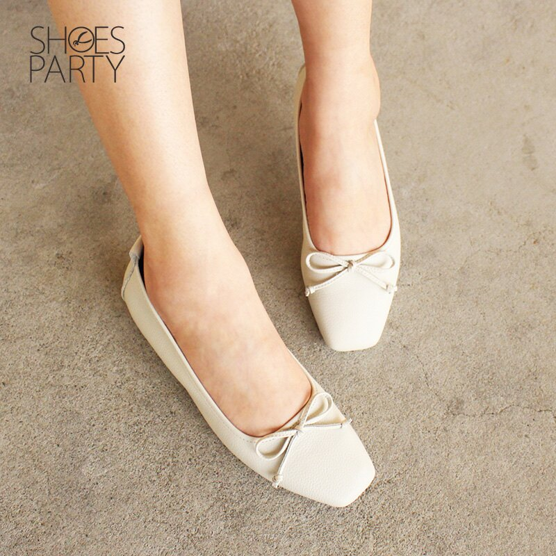 【F2-18910L】氣質小方頭芭蕾舞鞋_Shoes Party 1