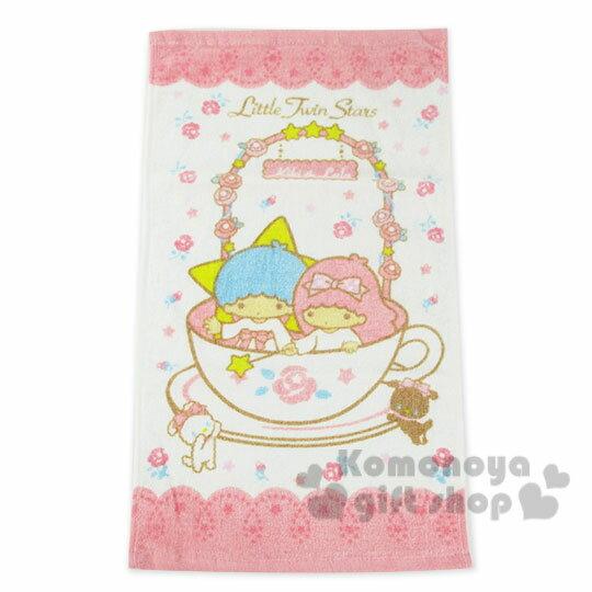 〔小禮堂〕雙子星 兒童毛巾《M.白粉.玫瑰花圈.咖啡杯》100%棉.28*54(cm)