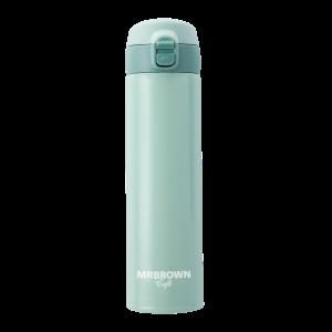 伯朗Lounge不鏽鋼瓶-彈跳保溫瓶-湖水綠-0.5L