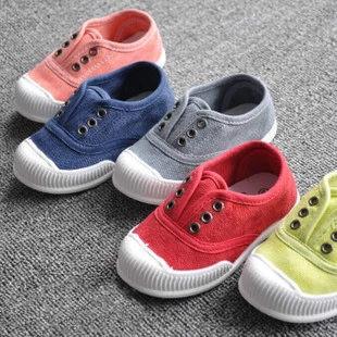 童鞋 韓版兒童防滑輕便休閒帆布鞋
