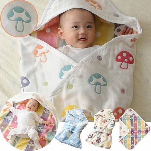 嬰兒被毯子 純棉六層紗布新生兒抱毯