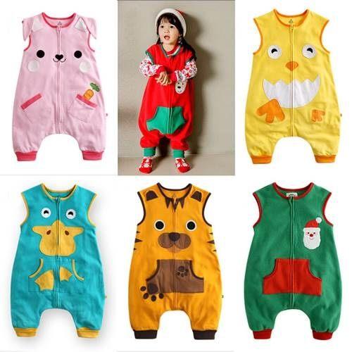 童連身衣兔裝 兒童造型搖粒絨雙層背心連身衣W61092