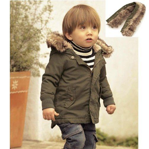 AIB 小舖- 新款冬裝男童男寶寶連帽棉衣防風外套/ 夾棉外套