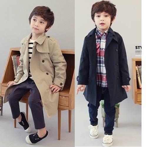 童大衣外套 男童英倫風雙層風衣大衣外套