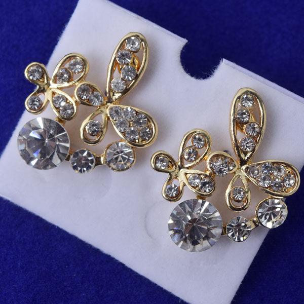 R101 傑克鑽 耳環 簡單時尚 璀璨 鑲 鑽 大方 簡約 耳環 一對 50元 超便宜