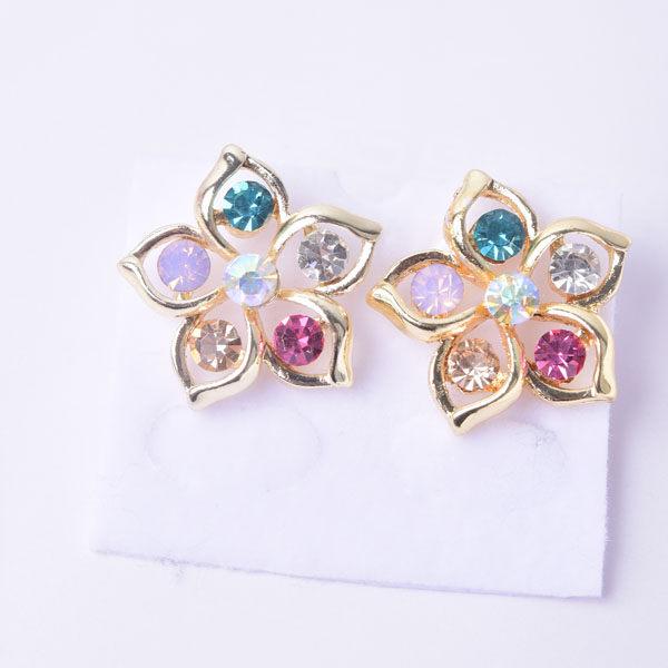 R76 傑克鑽 耳環 簡單時尚 璀璨 鑲 鑽 大方 簡約 耳環 一對 50元 超便宜